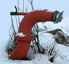 close-up of North Star dry hydrant